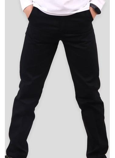 E&H Erkek Çocuk Keten Pantolon Siyah